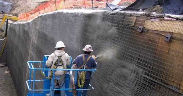 торкретирование бетоном